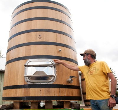 John with Big Barrel