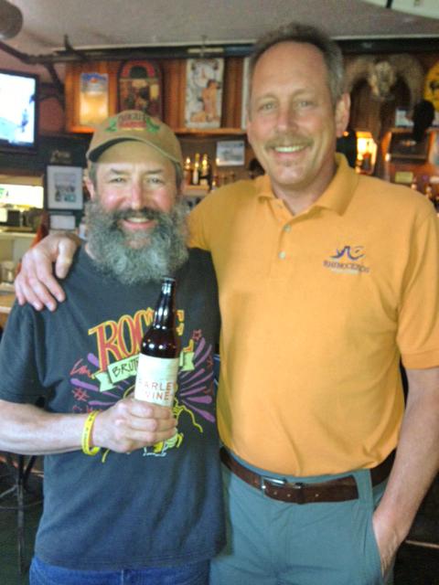 The Beard with RhinoPub owner Brad Martens.