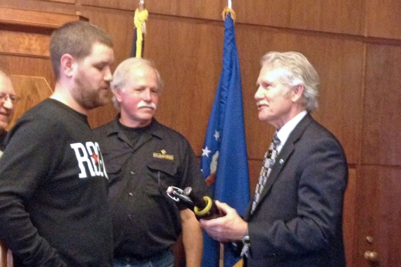 Joel Presents Beard to gov crop web