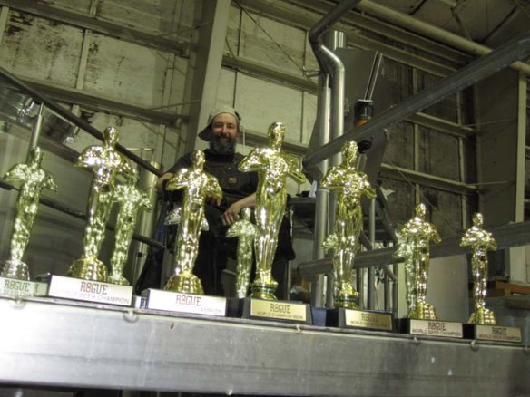 The Beard with just a few of his 1,000+ awards.