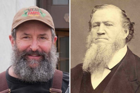 The Beard and Brigham Young.