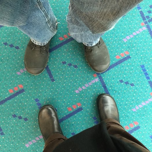 The traditional shoes on carpet photo, a rite of passage for many passengers at PDX.
