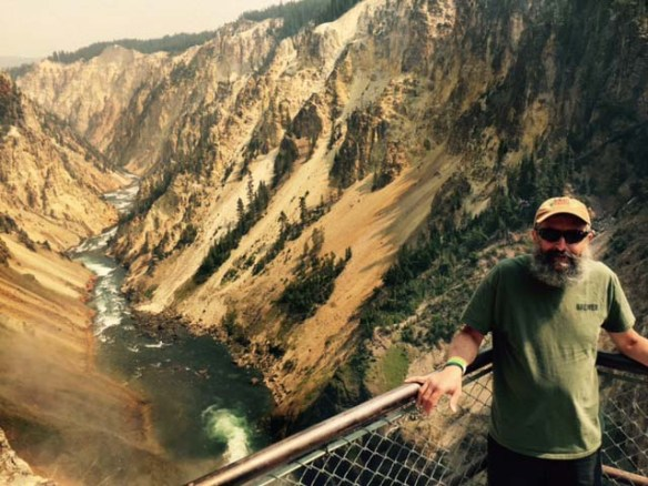 "Brewmaster John ""The Beard"" Maier at the Grand Canyon of the Yellowstone."
