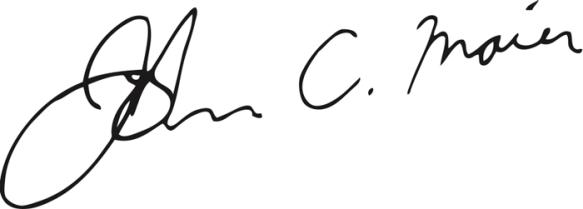 John Maier Signature