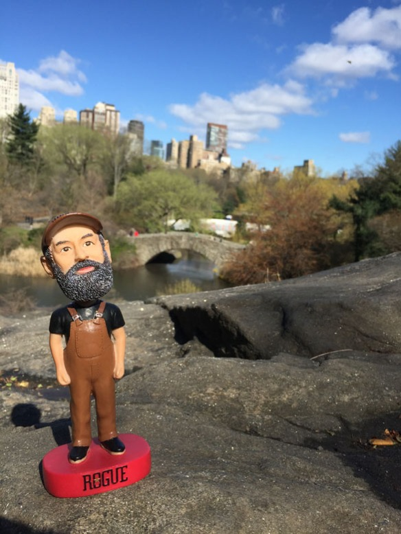 The Beard in Central Park.
