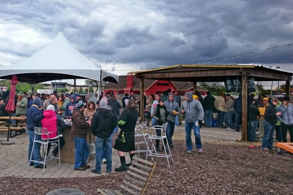 Clouds and the threat of rain did not damper the spirits of festival goers.