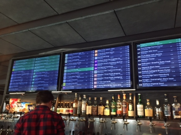 The Taphouse has an ever changing list of 61 craft beers on tap.