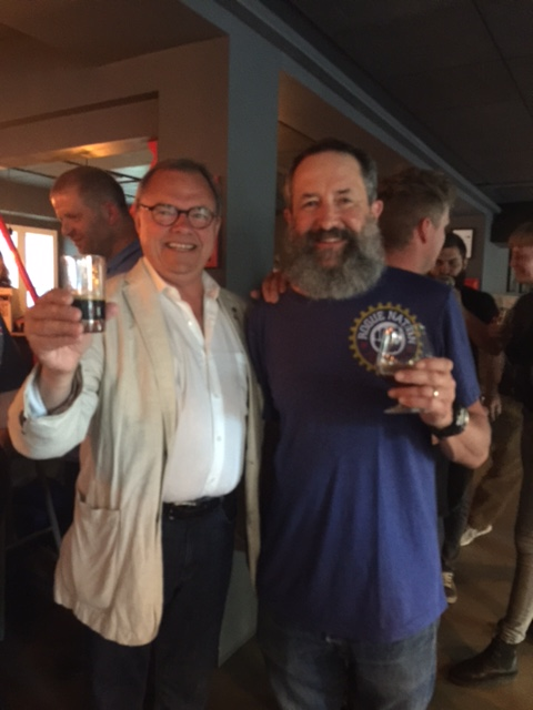 Here the Beard raises a glass with famed Danish beer judge and author Carsten Berthelsen.